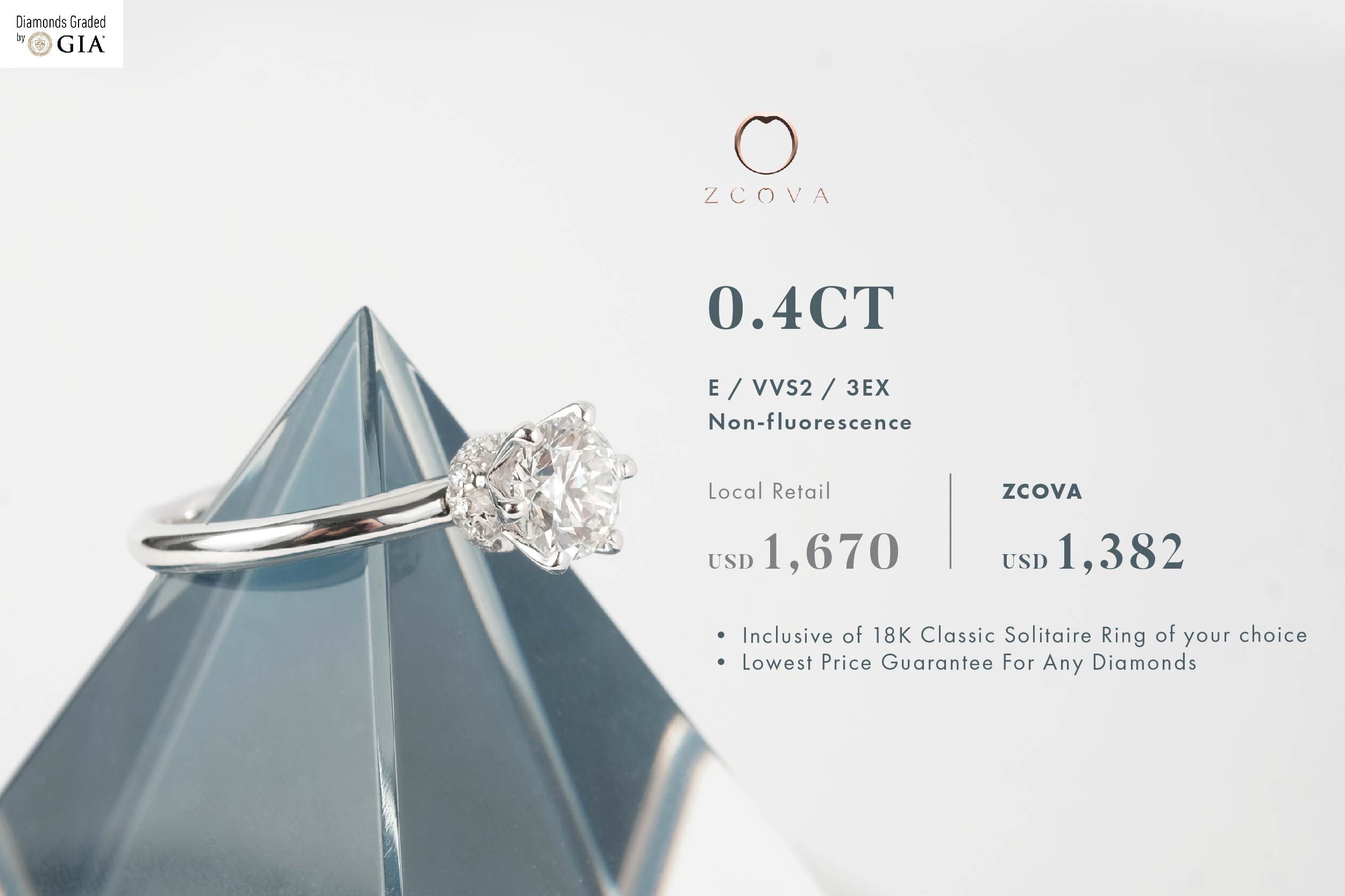 ZCOVA 0.4ct Engagement Ring Promotion