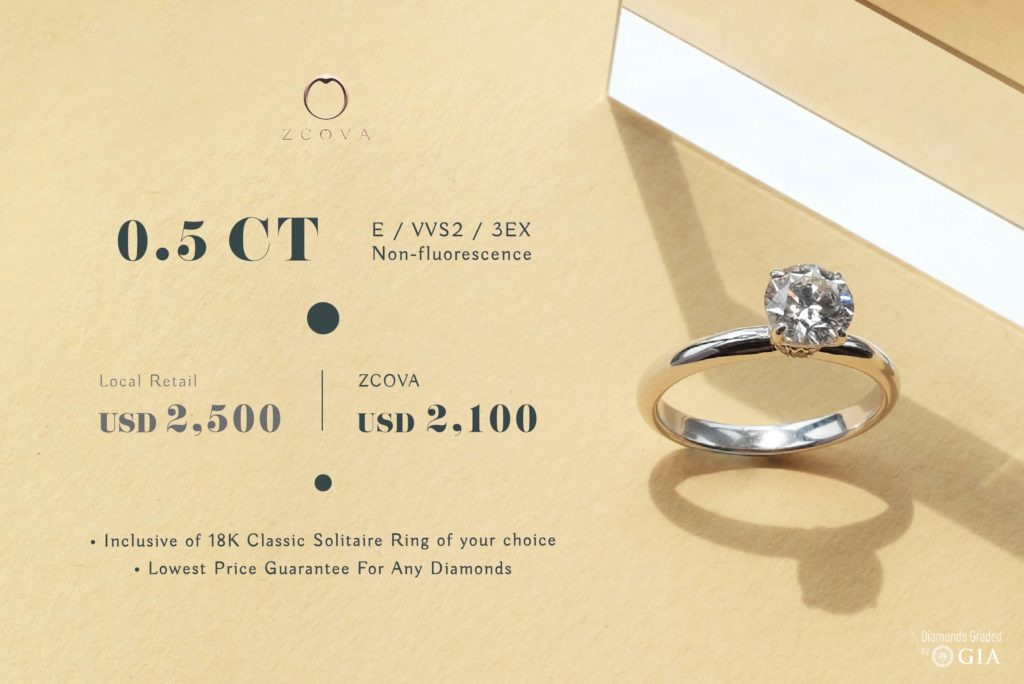ZCOVA 0.5ct Engagement Ring Promotion