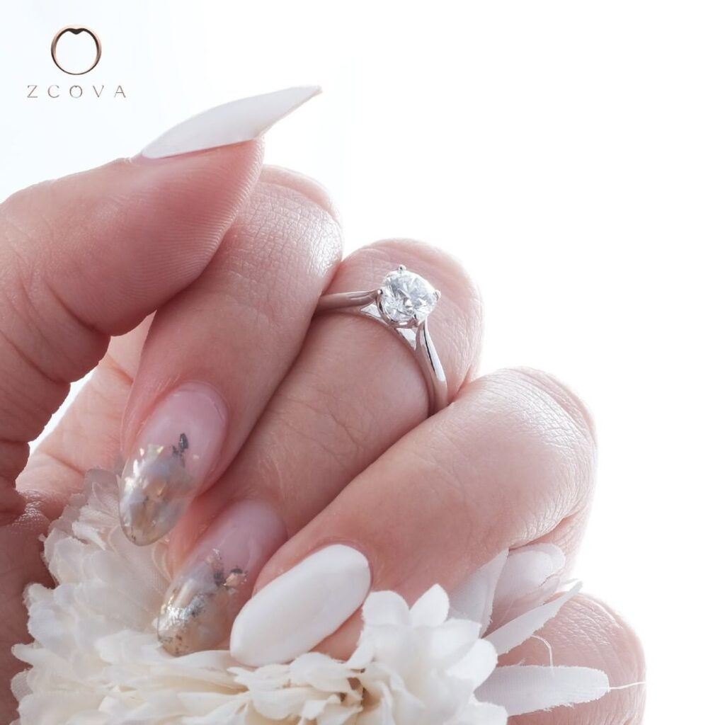 Tulip 4 prong engagement ring
