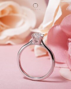 ZCOVA 0.5CT Diamond Ring Promotion with customised heart design