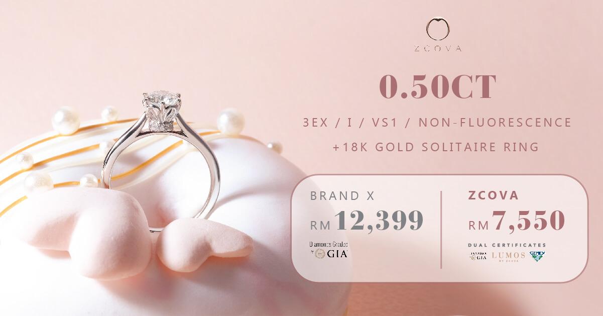 ZCOVA 0.5ct diamond ring promotion
