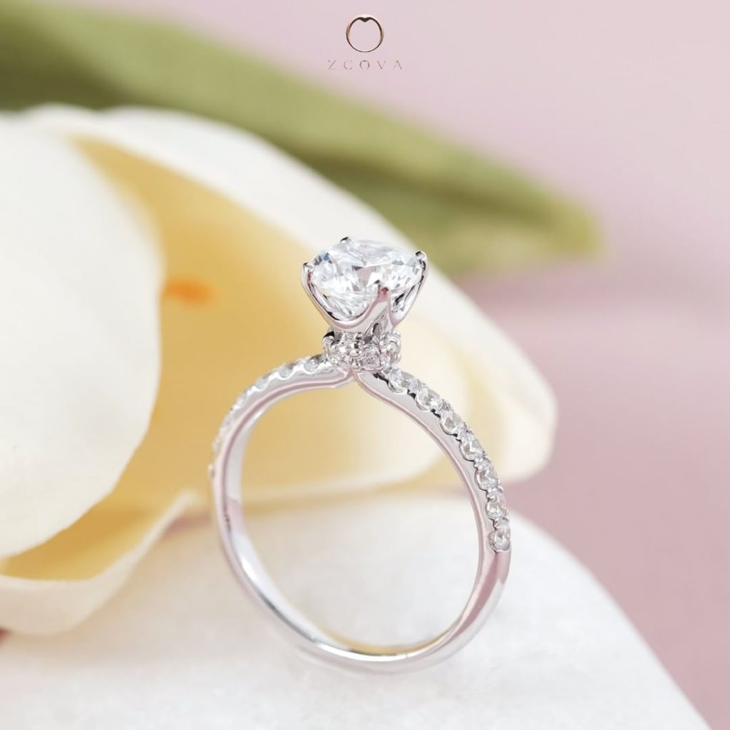 Lia Pave Engagement Ring