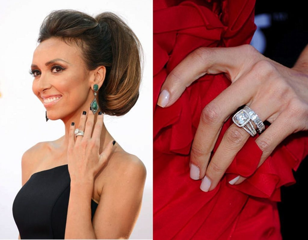 Giuliana Rancic Cushion Cut Halo Engagement Ring