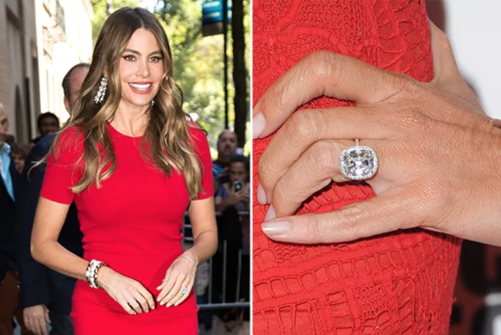 Sofia Vergara Cushion Cut Engagement Ring