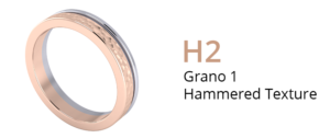 ZCOVA Grano 1 Hammered Texture_Wedding Band