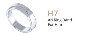 ZCOVA Ari Ring Band For Him_Wedding Band