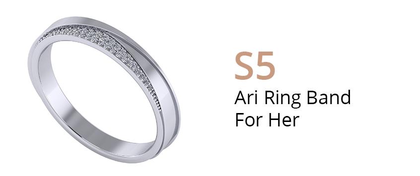 ZCOVA Ari Ring Band For Her_Wedding Band