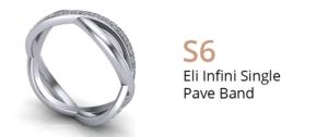 ZCOVA Eli Infini Single Pave Band_Wedding Band