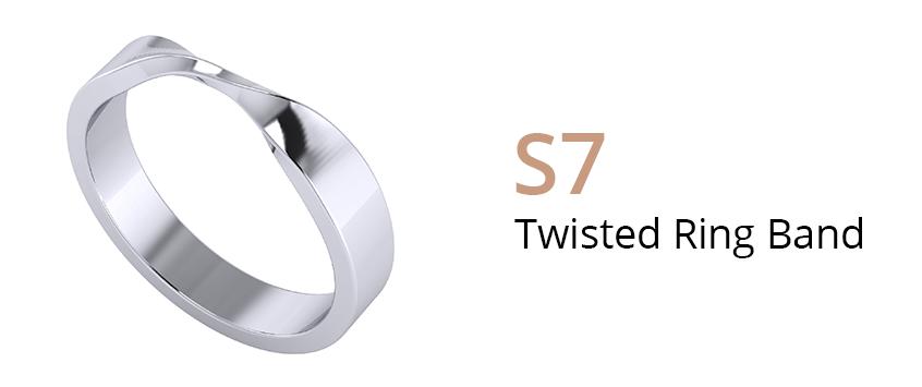 ZCOVA Twisted Ring Band_Wedding Band