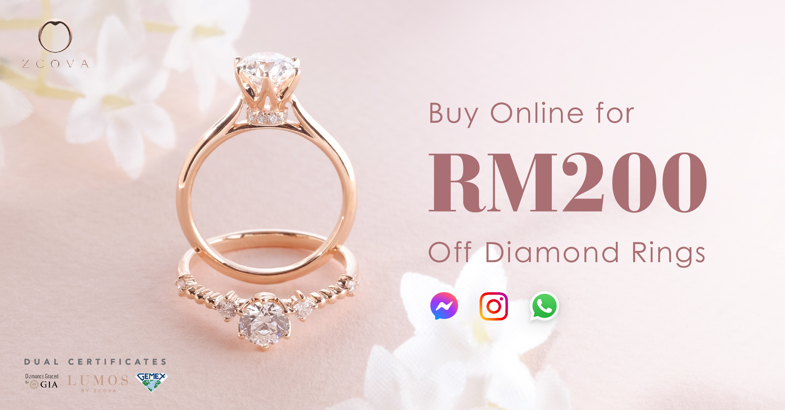 buy online for rm200 off diamond rings from zcova