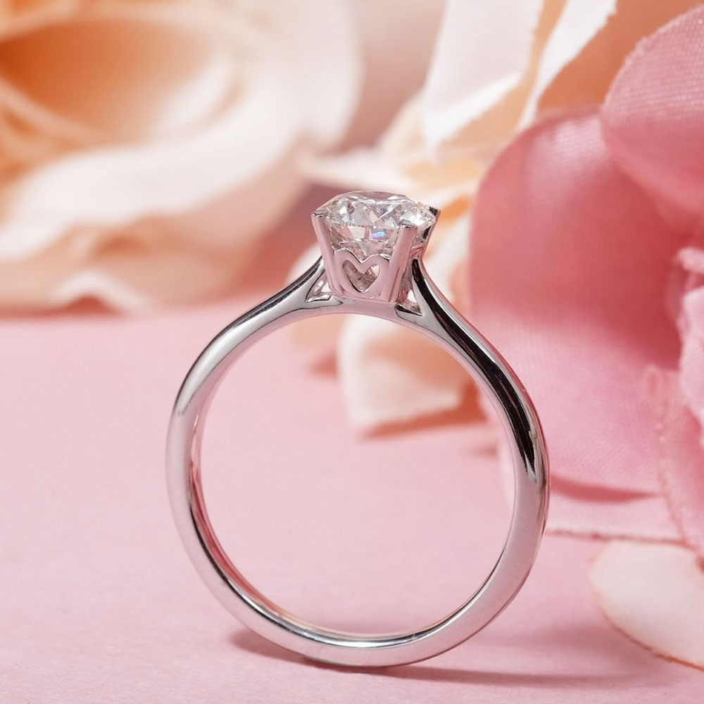 0.4ct customise diamond engagement ring promotion malaysia with heart design