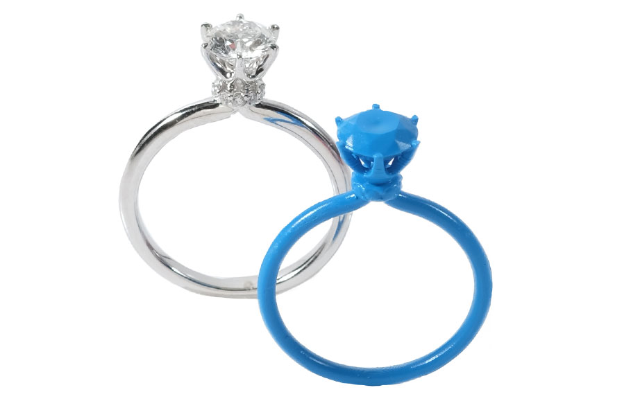 3d printed diamond ring