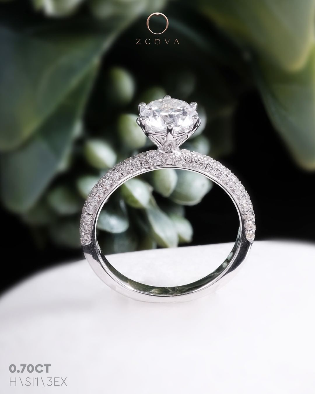 Jenri Micro Pave Engagement Ring