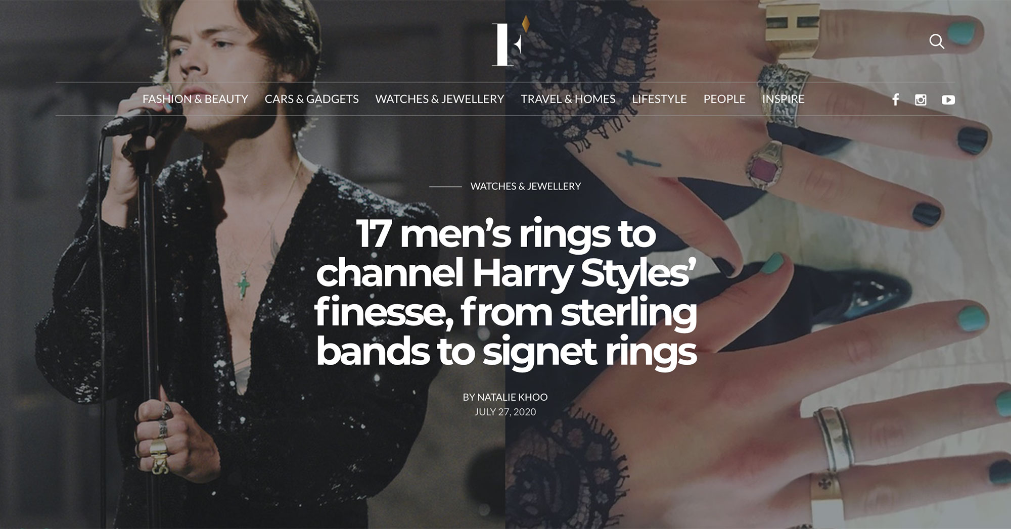Firstclasse Harry Styles ZCOVA Giro Ring