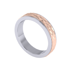 Hammered texture ring for gifting present