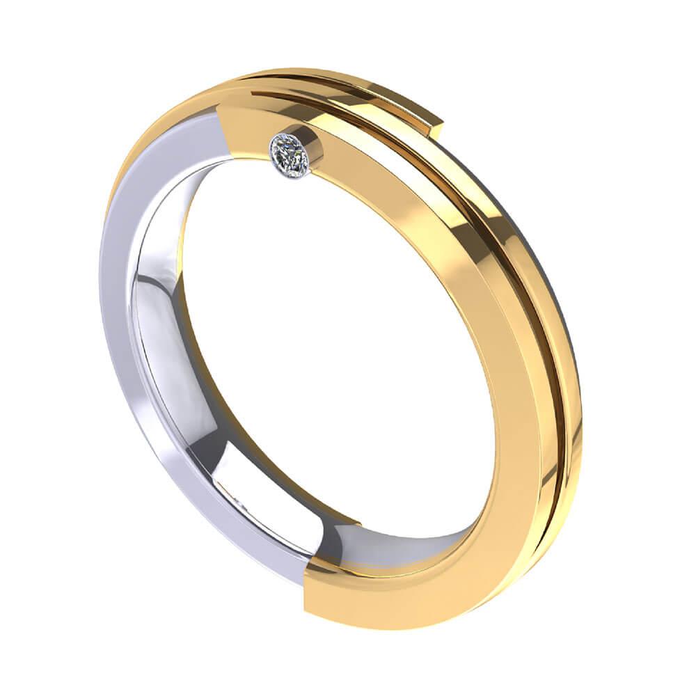 ZCOVA Rivet Band Mens Ring Jewellery