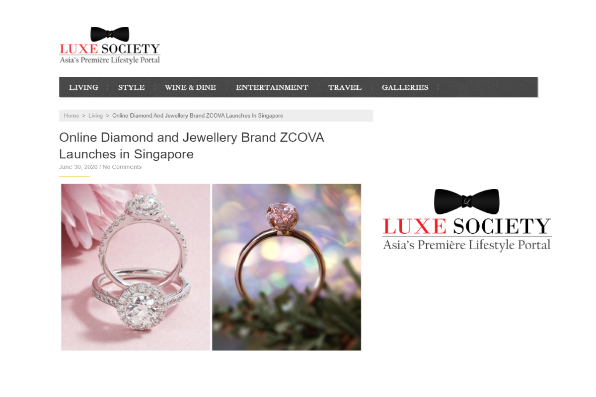 ZCOVA in Luxe Society Blog Cover