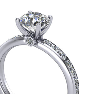 Details of Channel Pave Engagement Ring