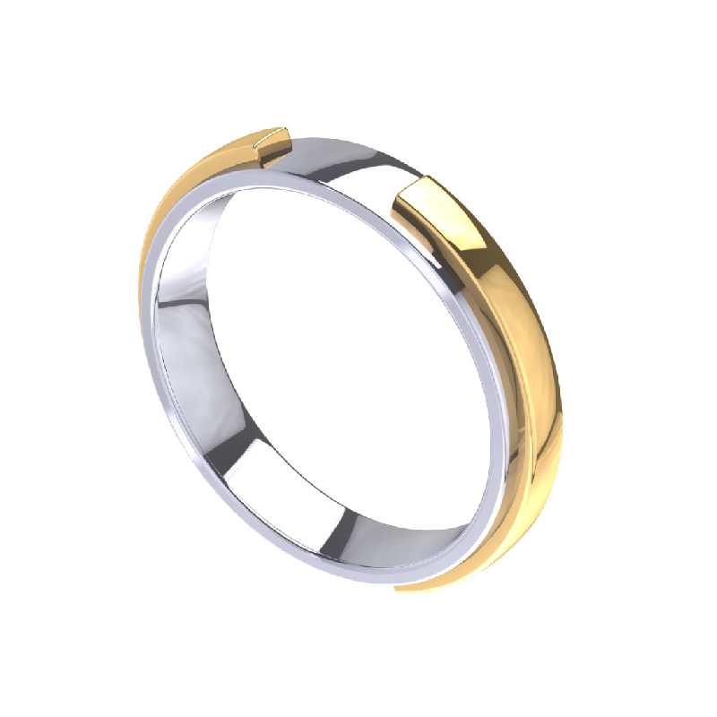 Double Arc Band Fashion Ring for Men