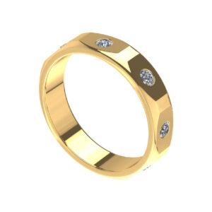 18k gold diamond men's ring online malaysia