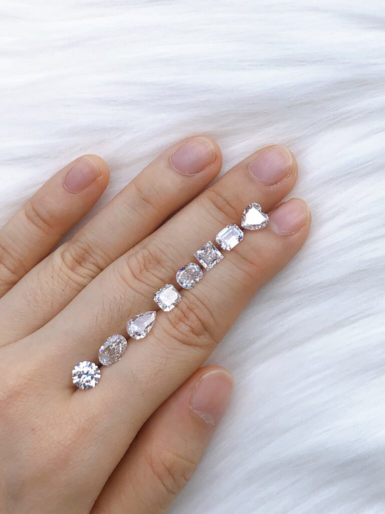 All Diamond Shapes on Hand for Engagement Ring