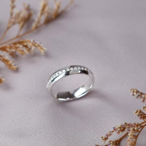 Channel Pave ring setting