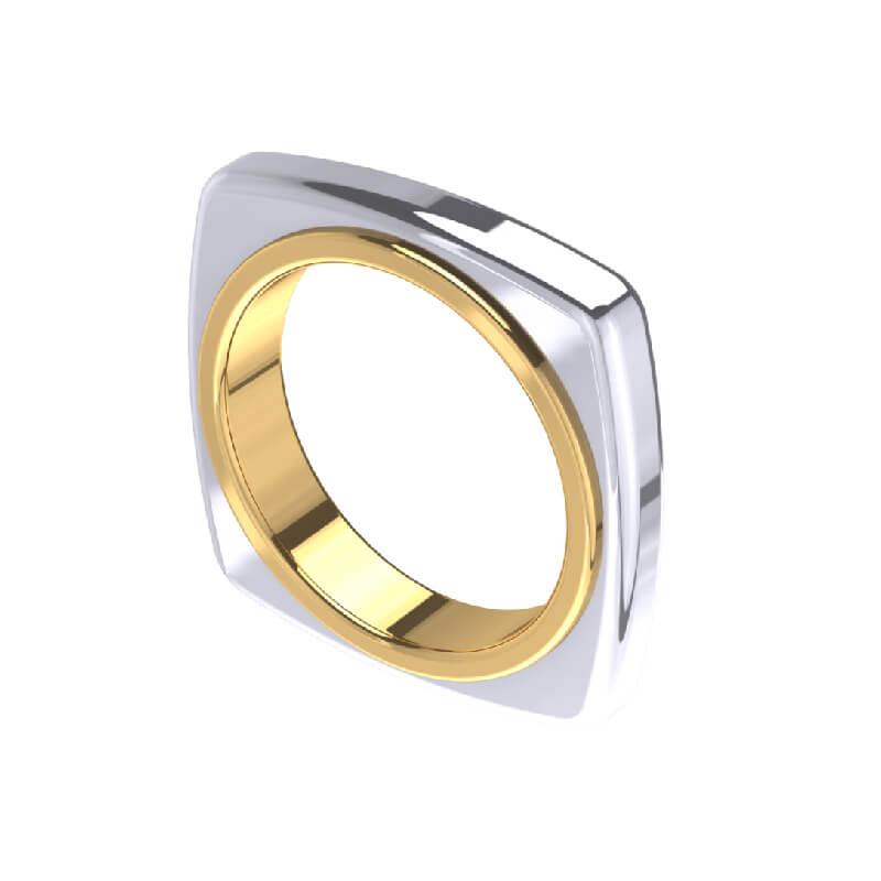 Quadra Band Fashion Ring Design for Men