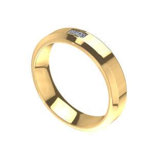 Twin Princess Cut Band Fashion Ring Design for Men