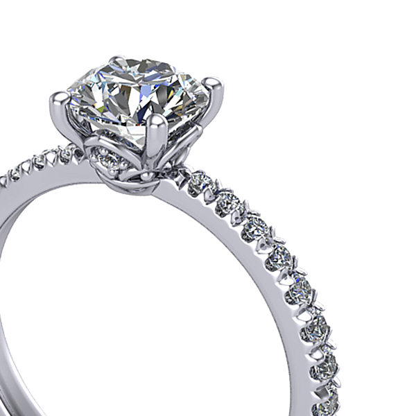 French Pave ring setting details