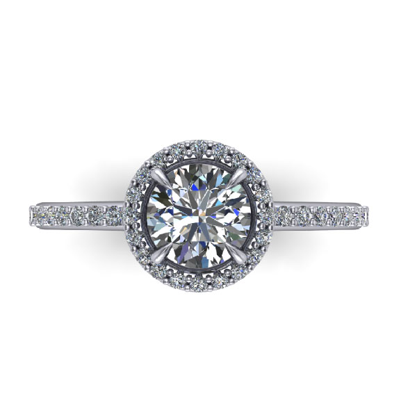 Classic Halo Pave Ring