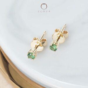 Emerald Stud Earrings - gemstone jewelry Malaysia