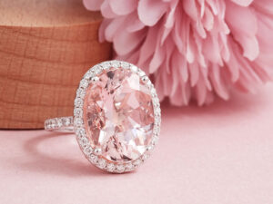 Pink Morganite Engagement Ring - gemstone jewellery in Malaysia