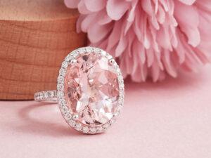 Pink Morganite Engagement Ring - gemstone jewellery in Malaysia