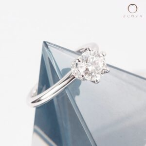 Zcova lia 6 prong solitaire engagement ring