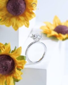 ZCOVA Flower Engagement Ring