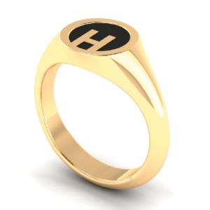 18K Gold Ring Customise Letter