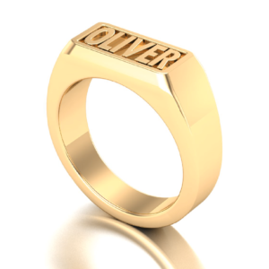 18K Gold Ring Customise Name