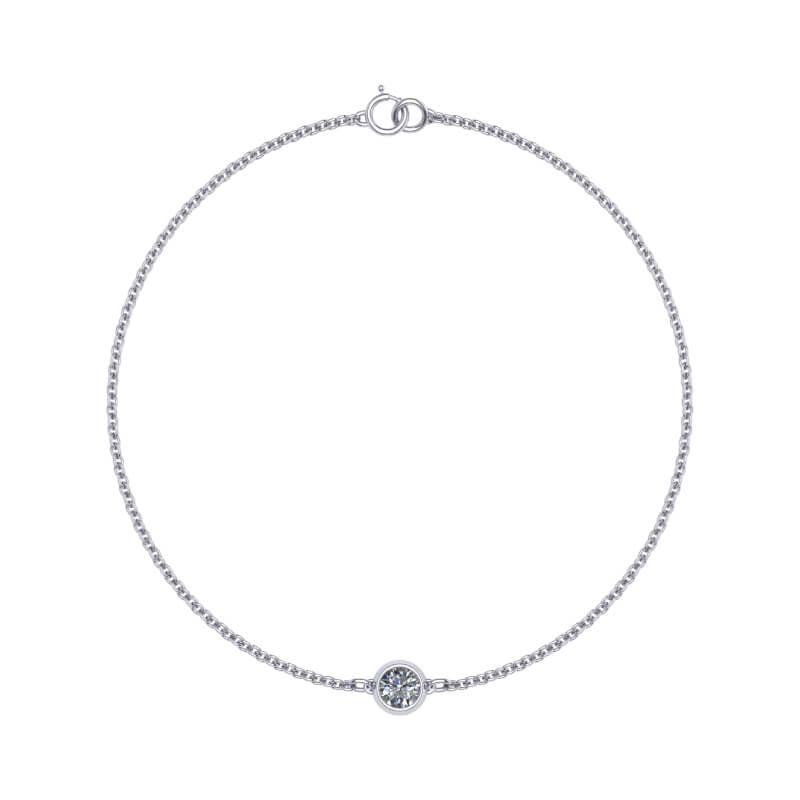 Single diamond bracelet bezel present gifting