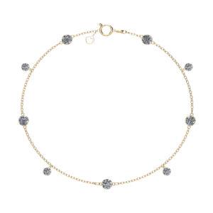 Lumi diamond 18k gold bracelet