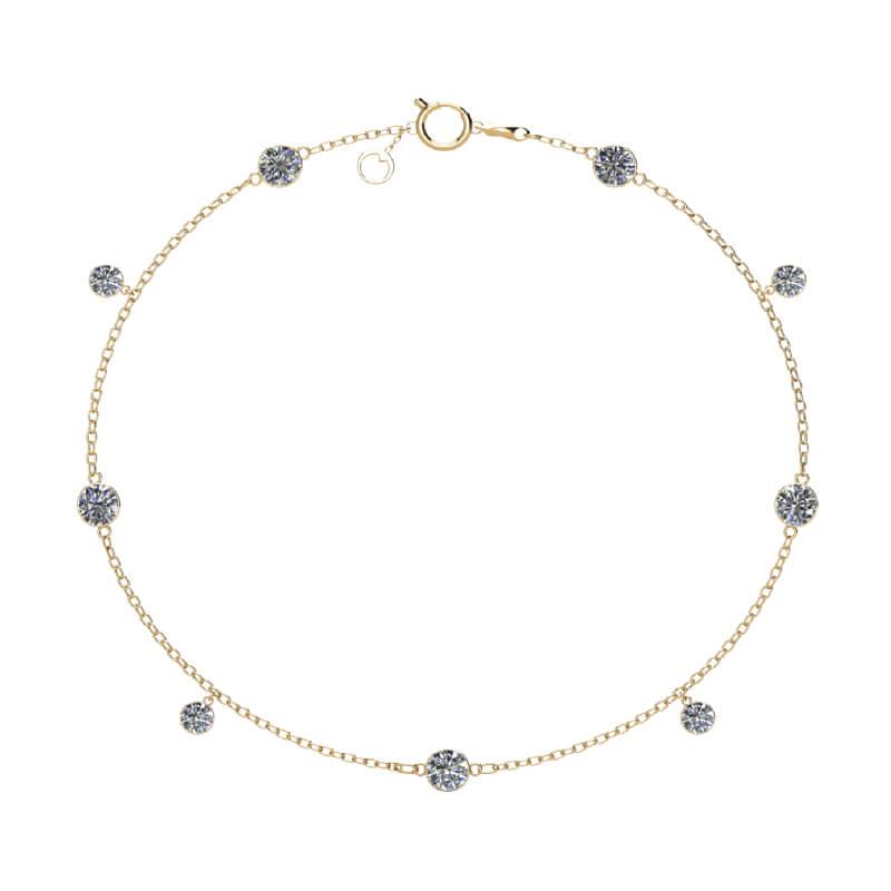 Lumi diamond gold bracelet