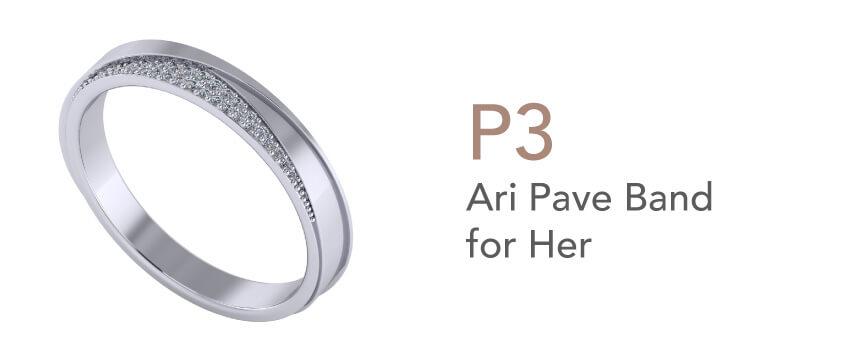 Cincin Tunang dan Nikah-Ari Pave Band for Her