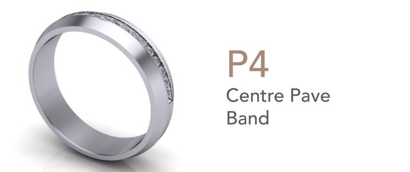 Cincin Tunang dan Nikah-Centre Pave Band