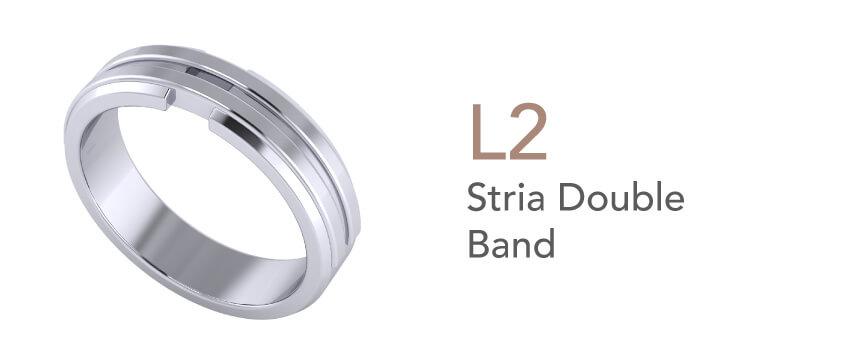 Cincin Tunang dan Nikah-Stria Double Band