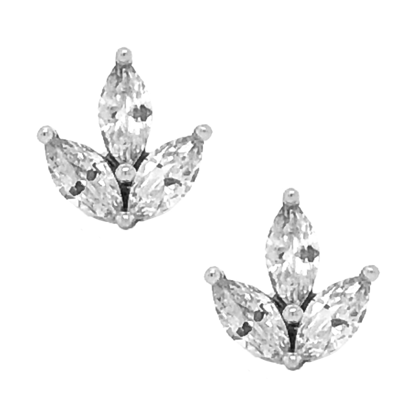 Marquise Diamond Earrings Present Gifting