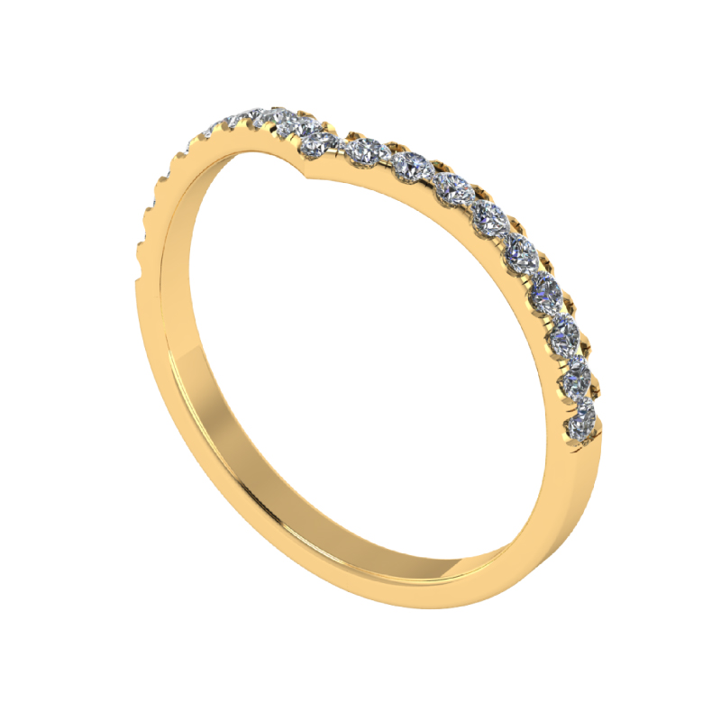 Fashion Ring Half Eternity V Ring For Her Present Gifting