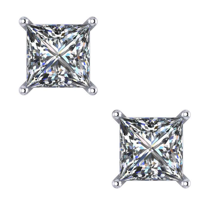 Princess Diamond Stud Earrings Presents Gifting idea