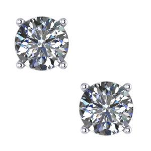 round brilliant diamond stud earrings buy online malaysia