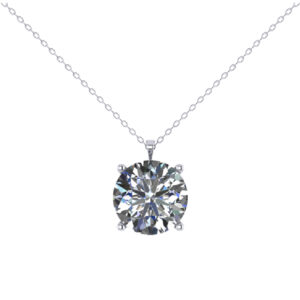 Solitaire Diamond Necklace for gifting present