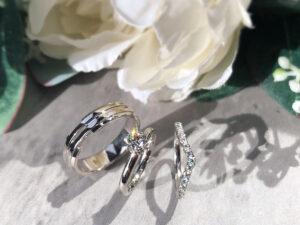 Set Cincin Tunang dan Cincin Nikah Emas dan Platinum ZCOVA