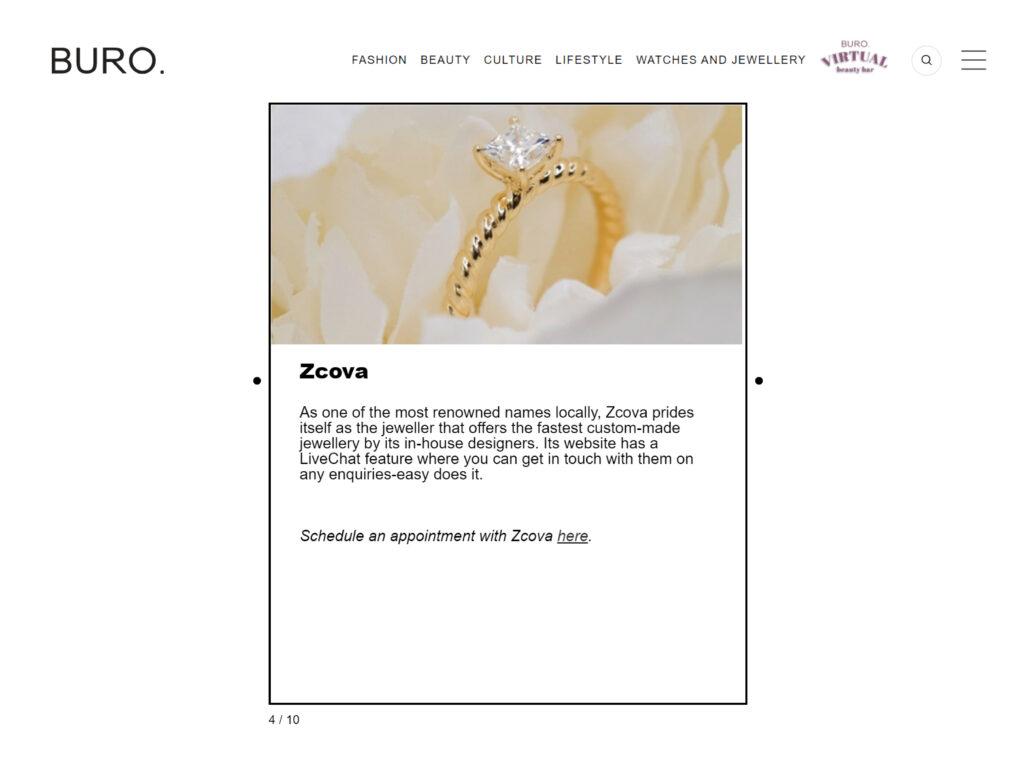 Buro Malaysia feature ZCOVA